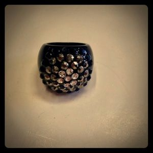 Jewelry - RARE VTG ESTATE FIND BLACK RING SZ 8